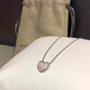 David Yurman Diamond Pave Heart necklace